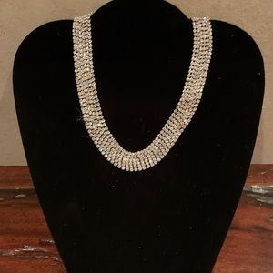 Vintage 6 strand rhinestone adjustable necklace.